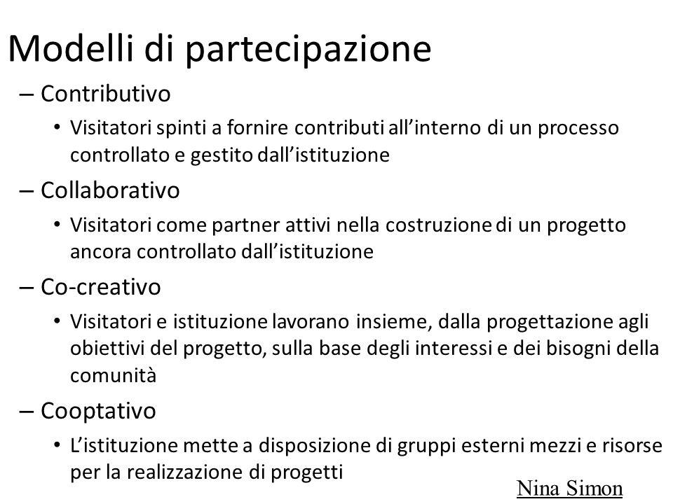 Modelli di partecipazione