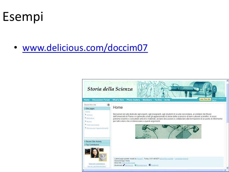 Esempi www.delicious.com/doccim07