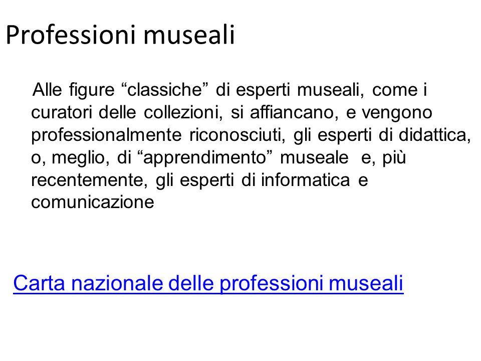 Professioni museali Carta nazionale delle professioni museali