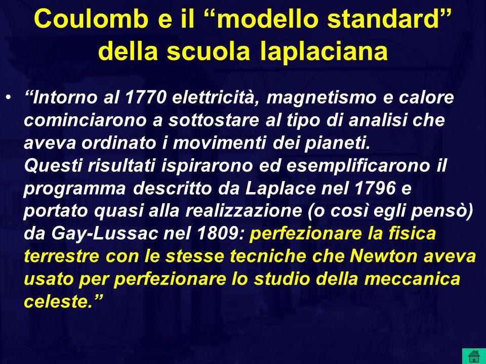 Coulomb e il modello standard della scuola laplaciana