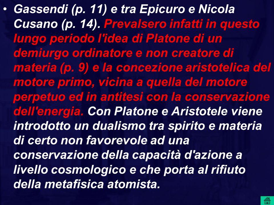 Gassendi (p. 11) e tra Epicuro e Nicola Cusano (p. 14)