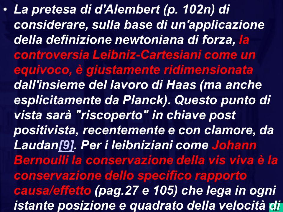 La pretesa di d Alembert (p