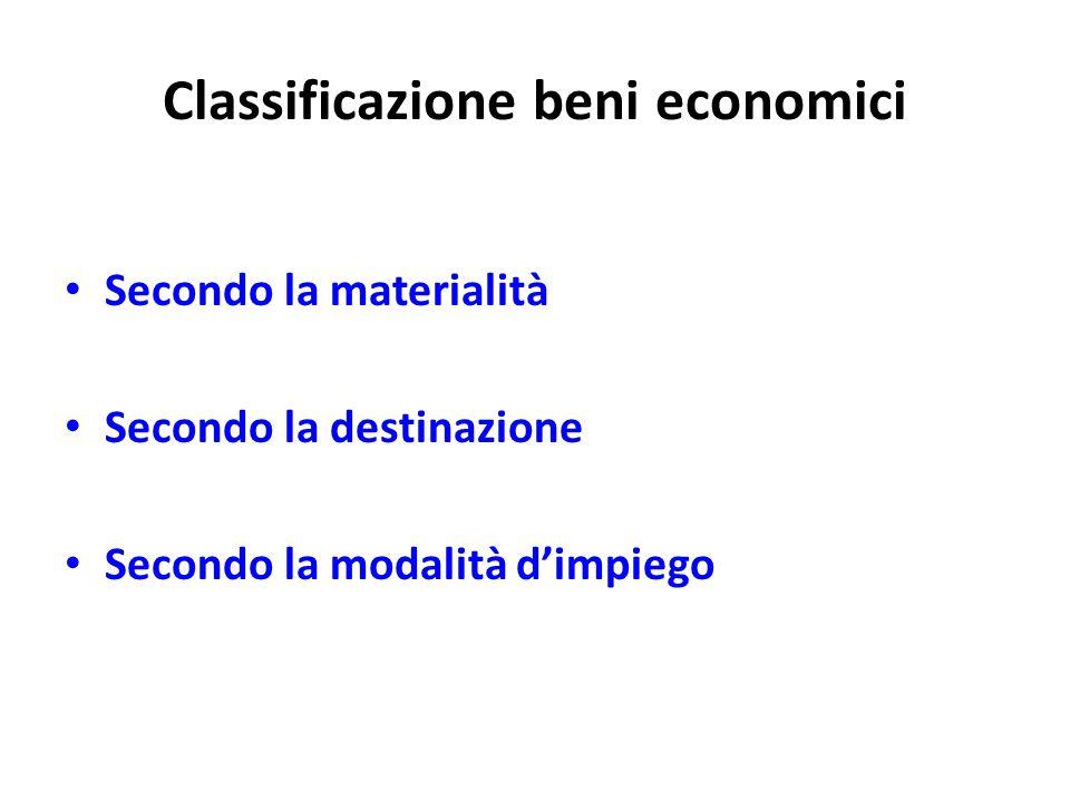 Classificazione beni economici
