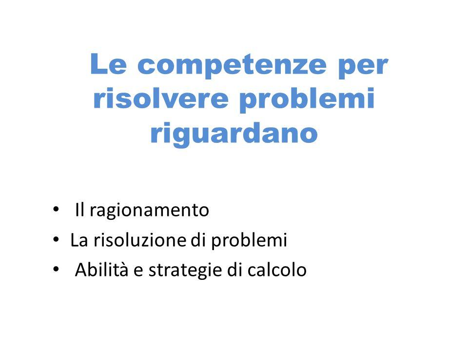 Le competenze per risolvere problemi riguardano