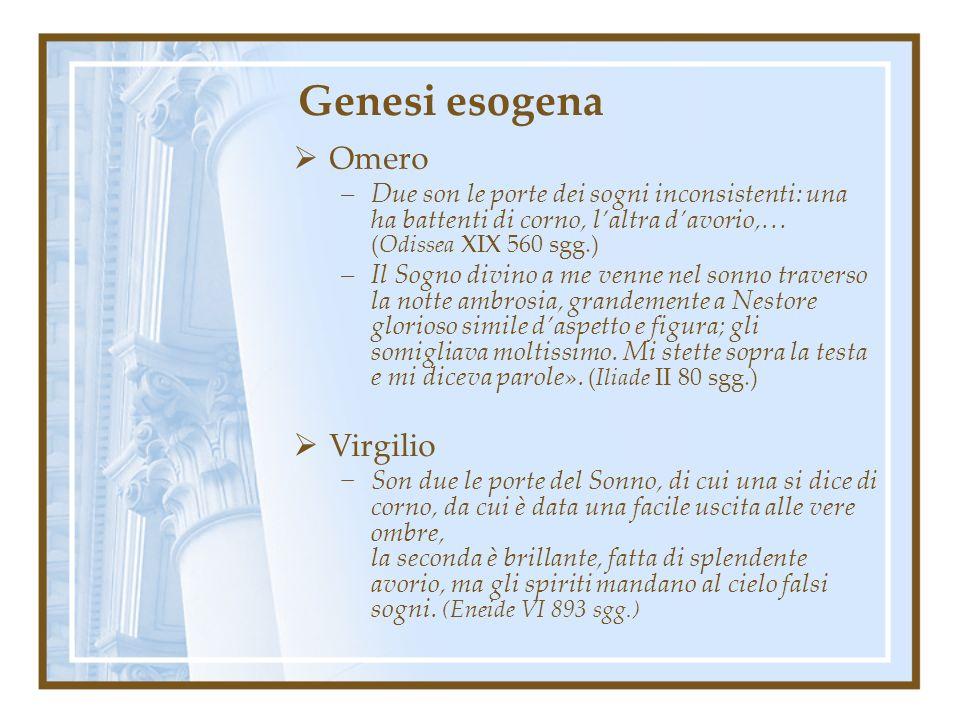 Genesi esogena Omero Virgilio