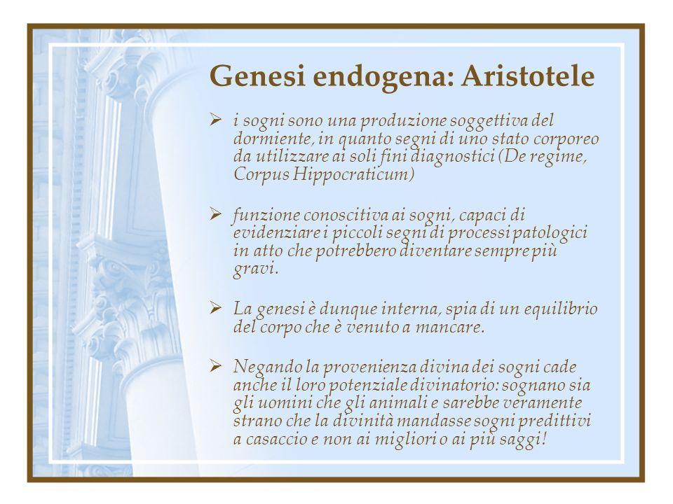 Genesi endogena: Aristotele