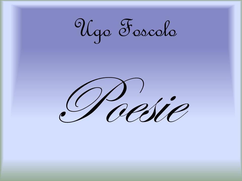 Ugo Foscolo Poesie