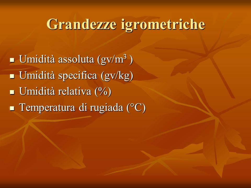 Grandezze igrometriche