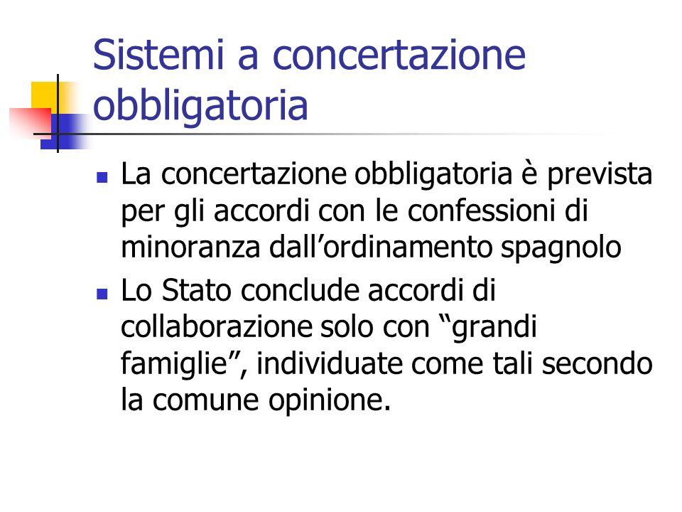 Sistemi a concertazione obbligatoria