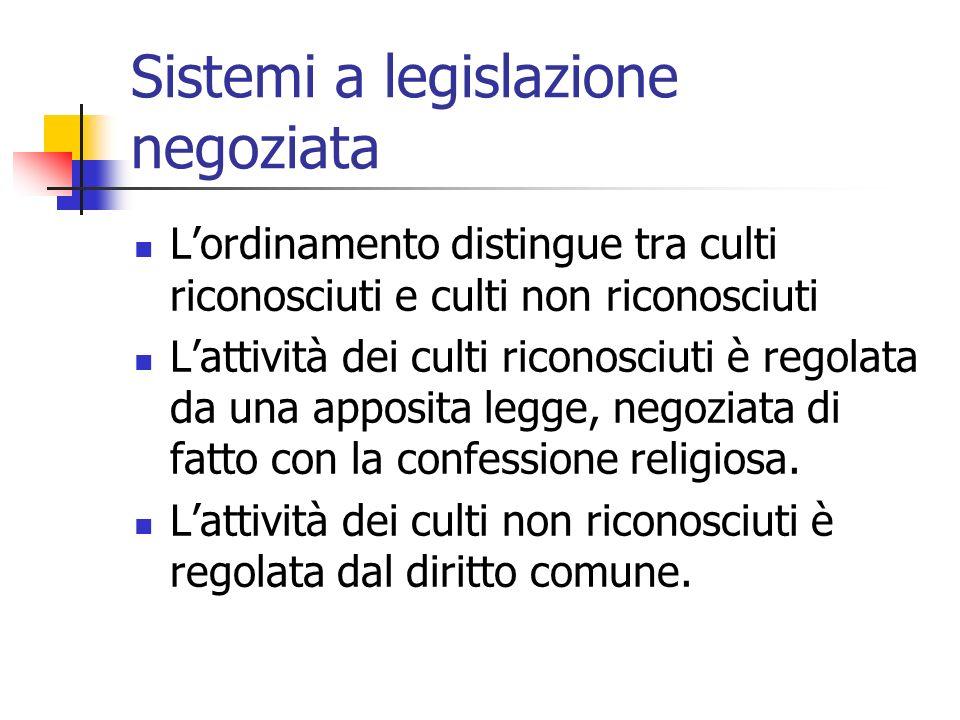 Sistemi a legislazione negoziata