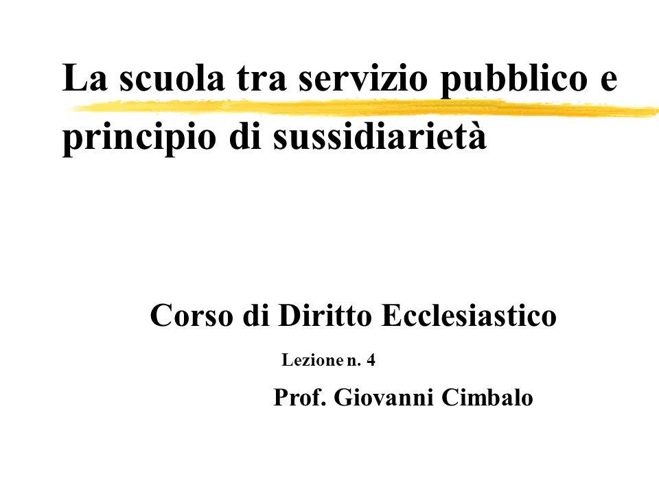 La scuola tra servizio pubblico e principio di sussidiarietà