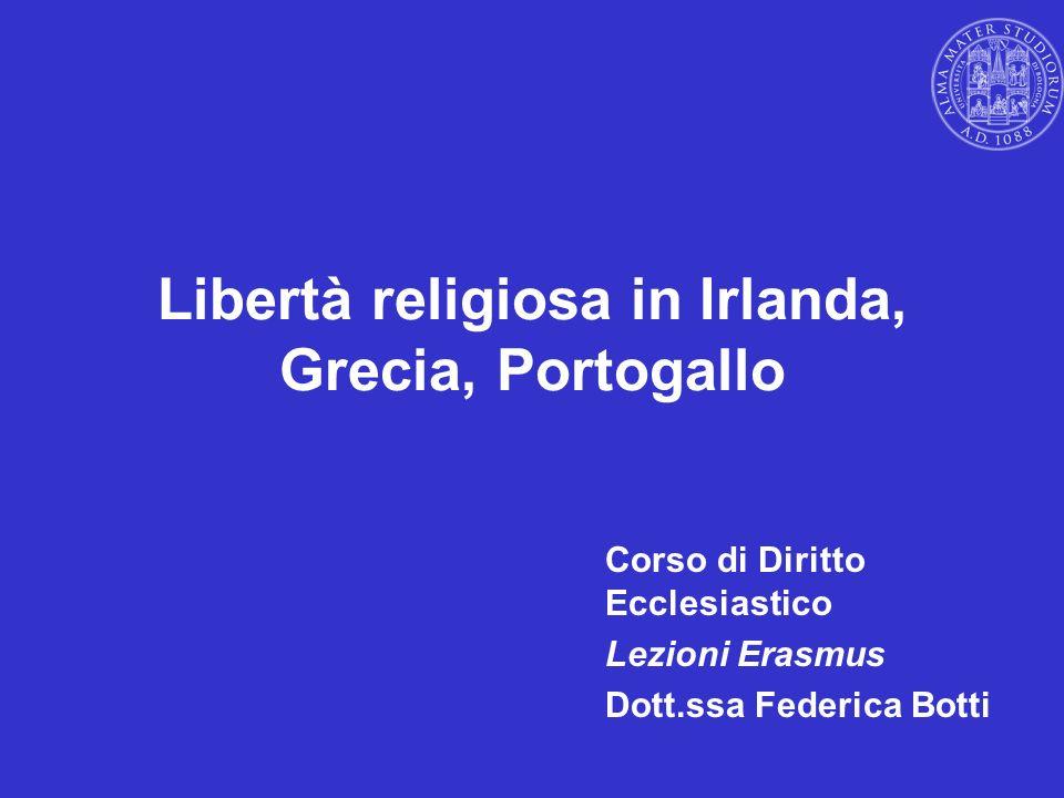 Libertà religiosa in Irlanda, Grecia, Portogallo