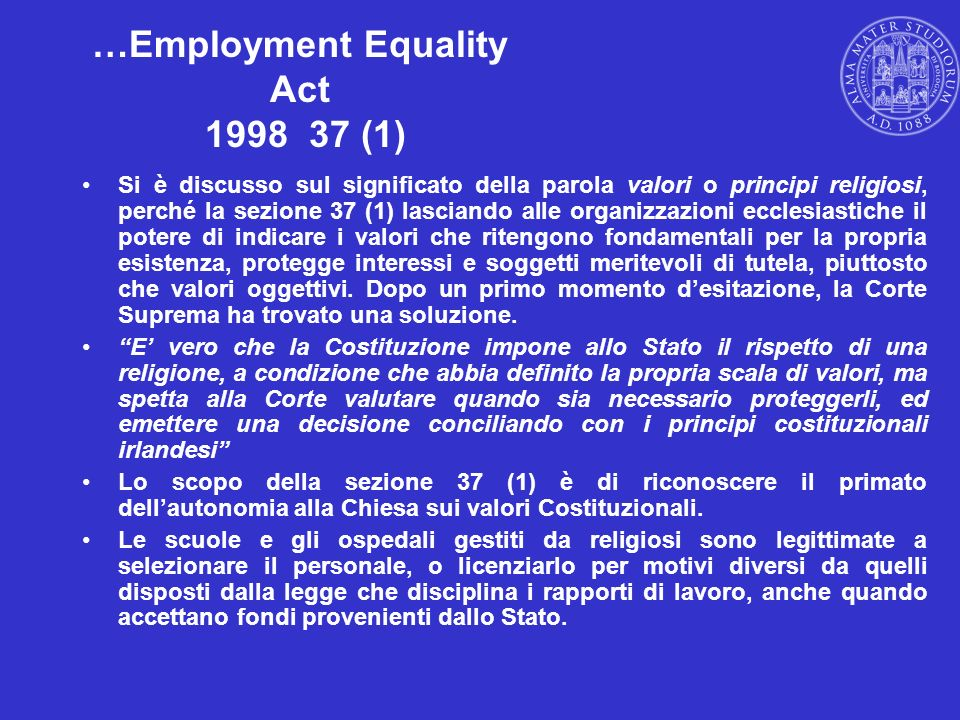 …Employment Equality Act 1998 37 (1)