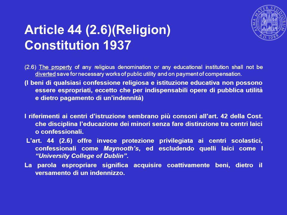 Article 44 (2.6)(Religion) Constitution 1937