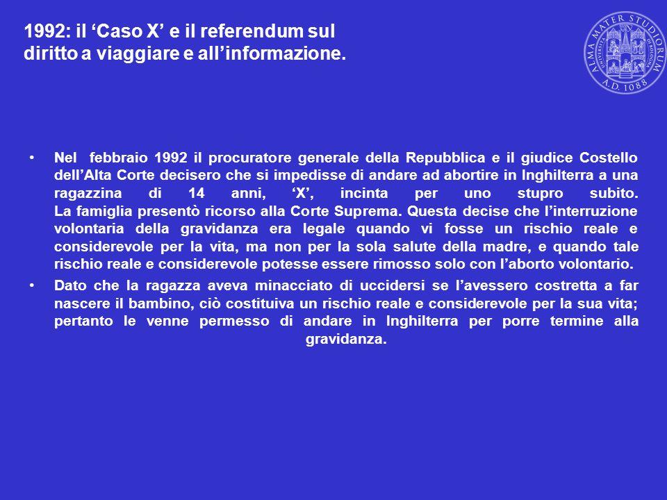 1992: il 'Caso X' e il referendum sul diritto a viaggiare e all'informazione.