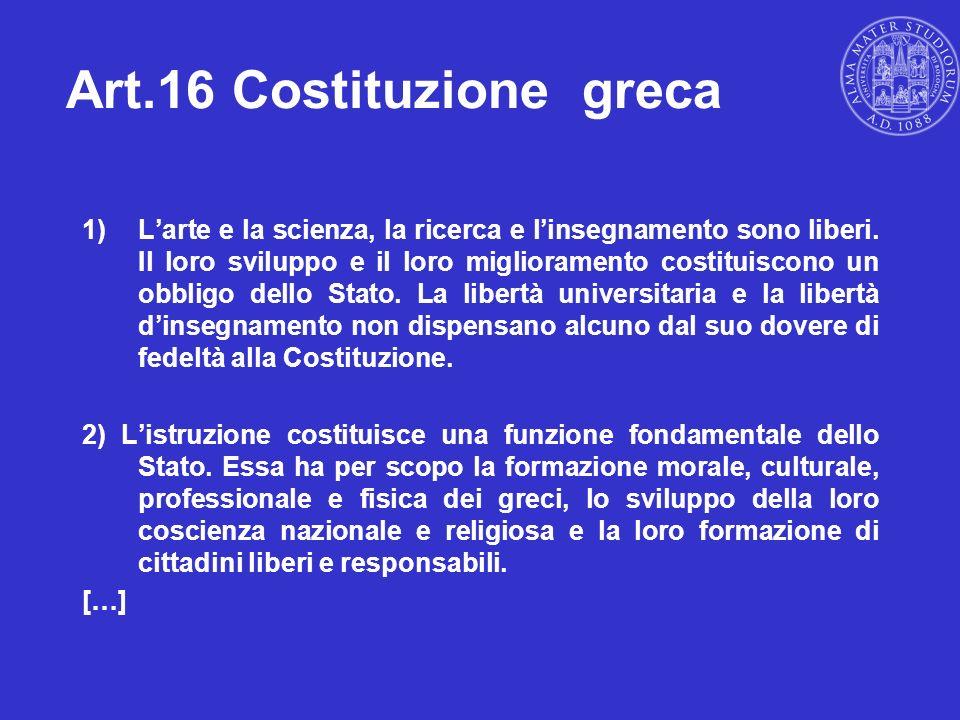 Art.16 Costituzione greca