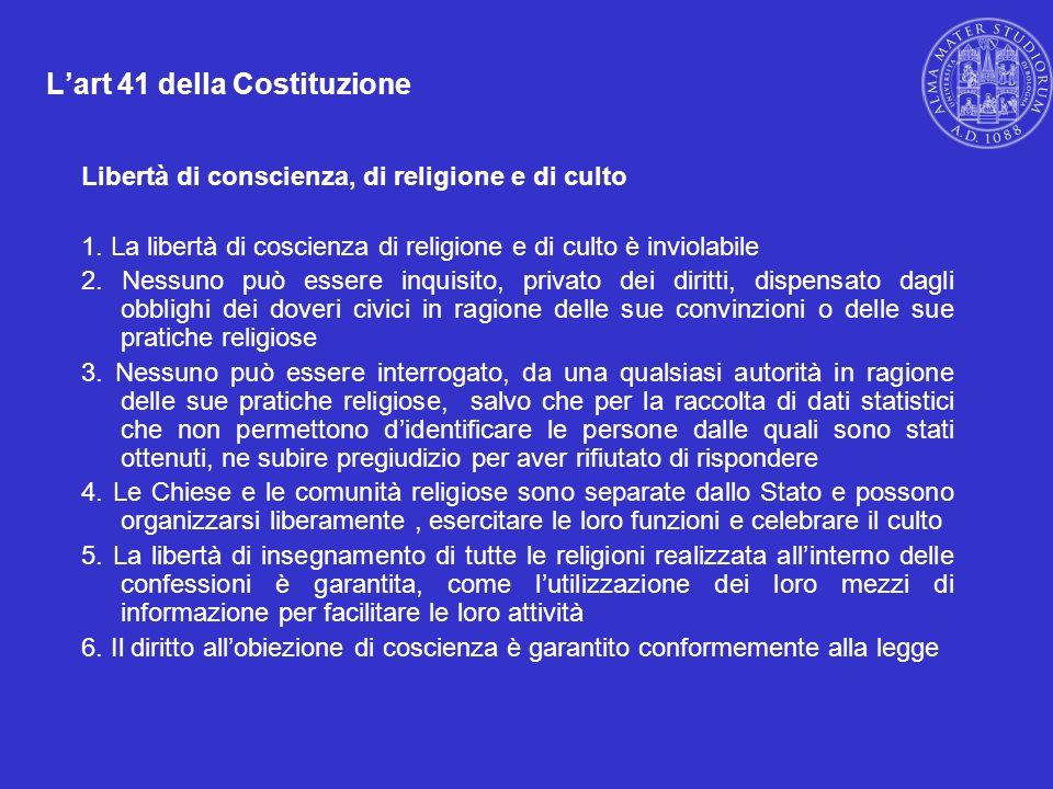 L'art 41 della Costituzione