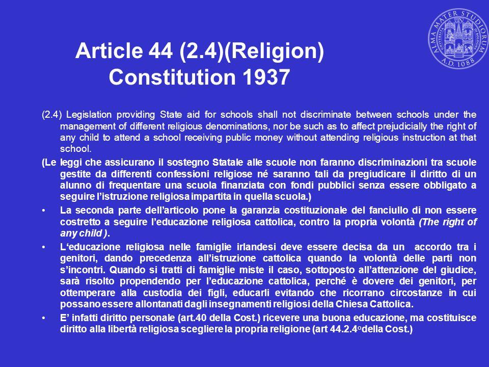 Article 44 (2.4)(Religion) Constitution 1937