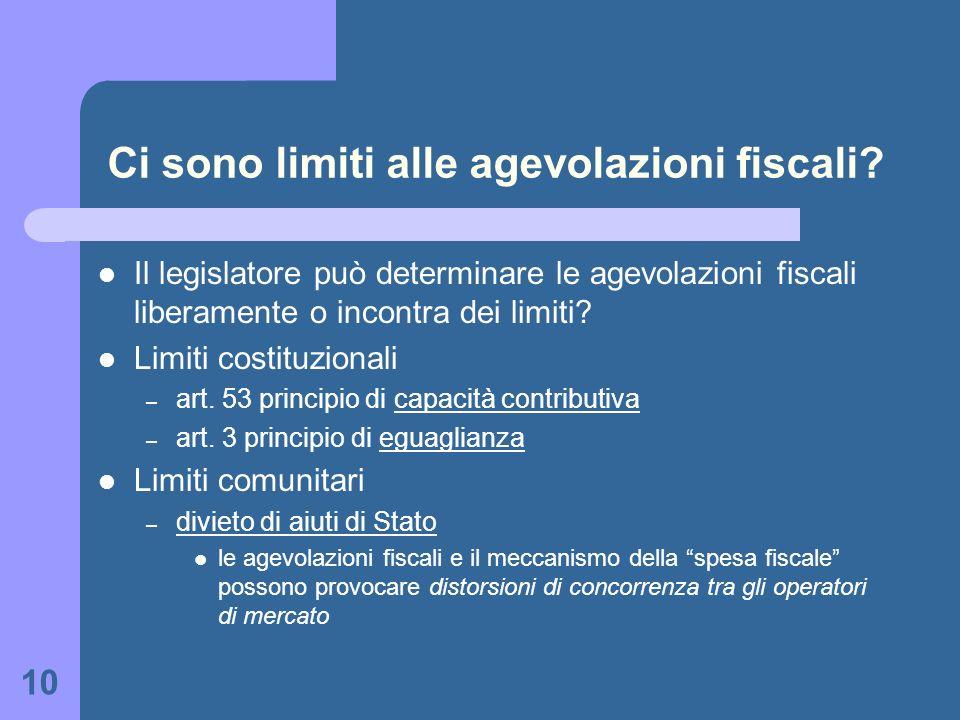 Ci sono limiti alle agevolazioni fiscali