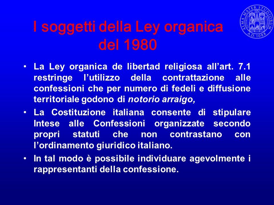 I soggetti della Ley organica del 1980