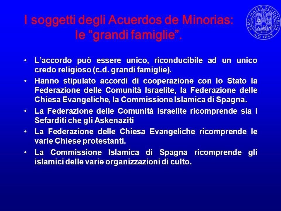 I soggetti degli Acuerdos de Minorias: le grandi famiglie .