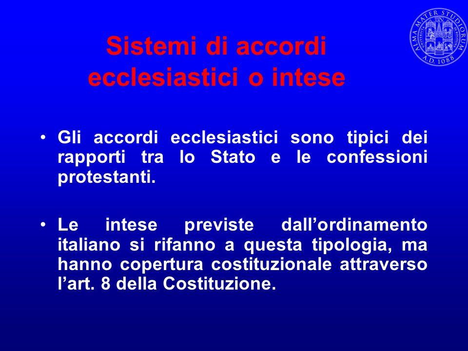 Sistemi di accordi ecclesiastici o intese