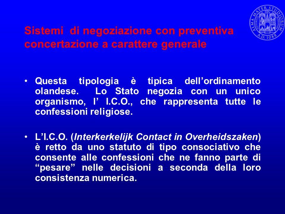 Sistemi di negoziazione con preventiva concertazione a carattere generale