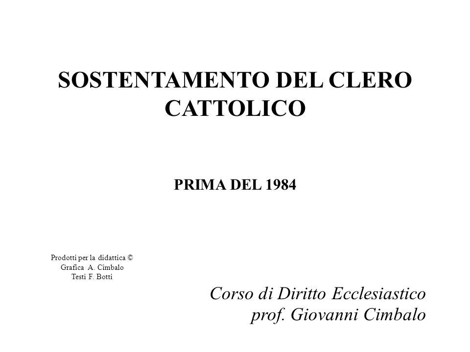 SOSTENTAMENTO DEL CLERO CATTOLICO