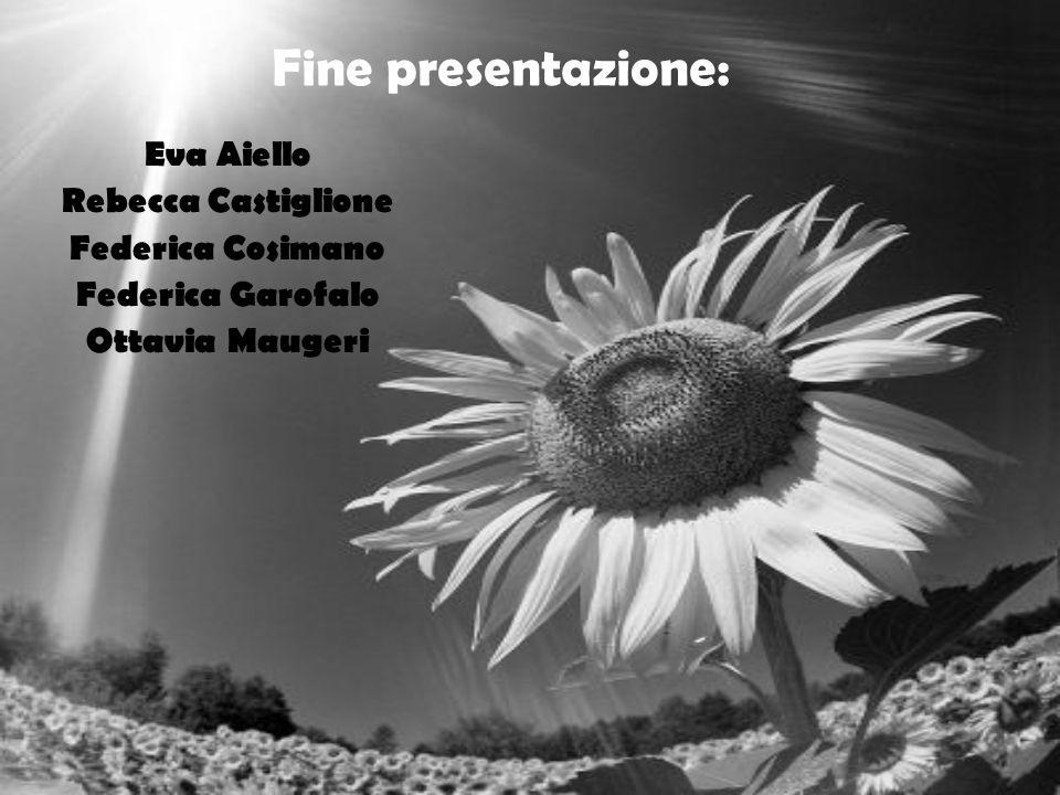 Fine presentazione: Eva Aiello Rebecca Castiglione Federica Cosimano