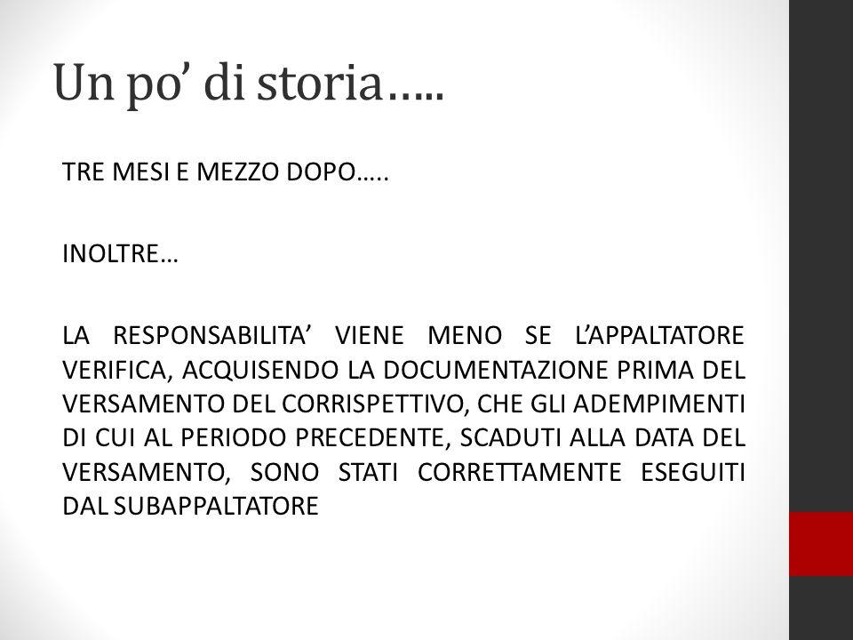 Un po' di storia…..
