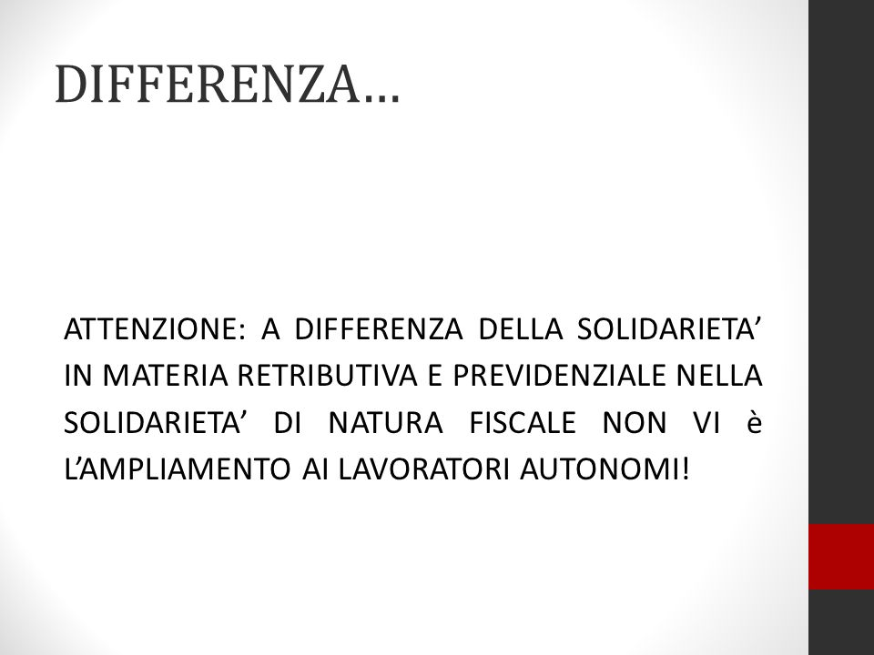 DIFFERENZA…