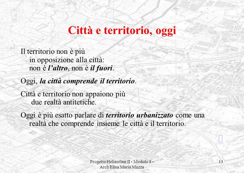 Città e territorio, oggi