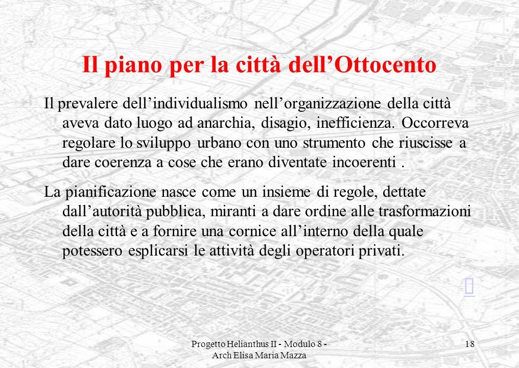 Il piano per la città dell'Ottocento