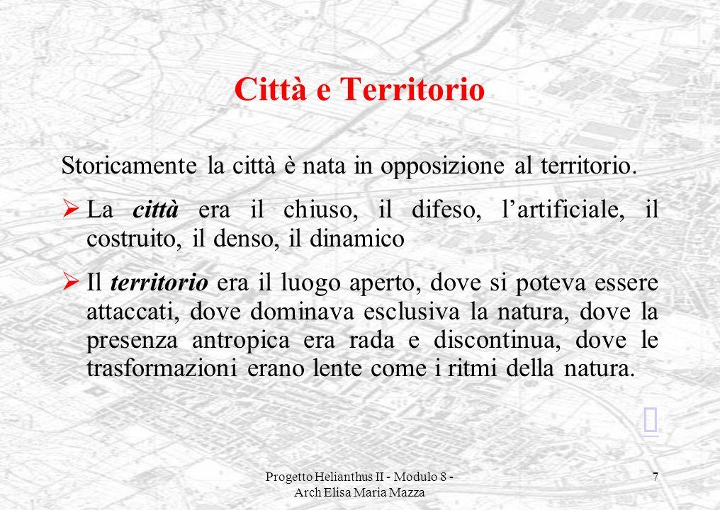 Progetto Helianthus II - Modulo 8 - Arch Elisa Maria Mazza