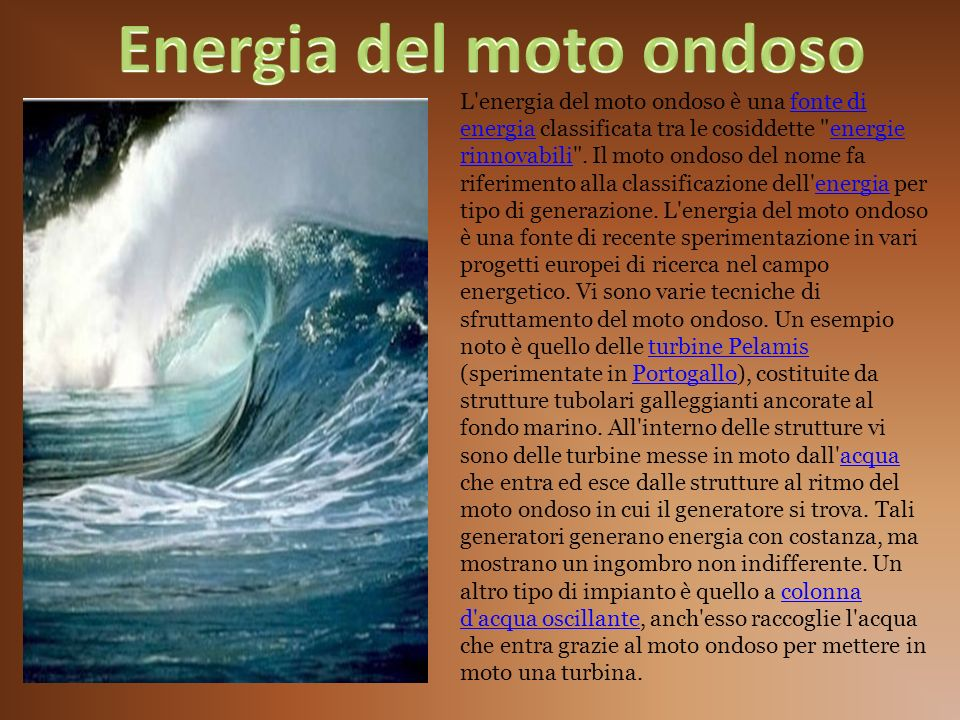Energia del moto ondoso