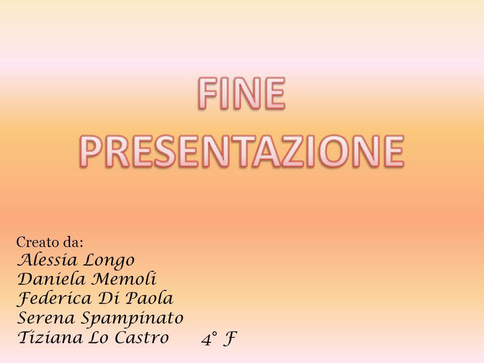 FINE PRESENTAZIONE Alessia Longo Daniela Memoli Federica Di Paola