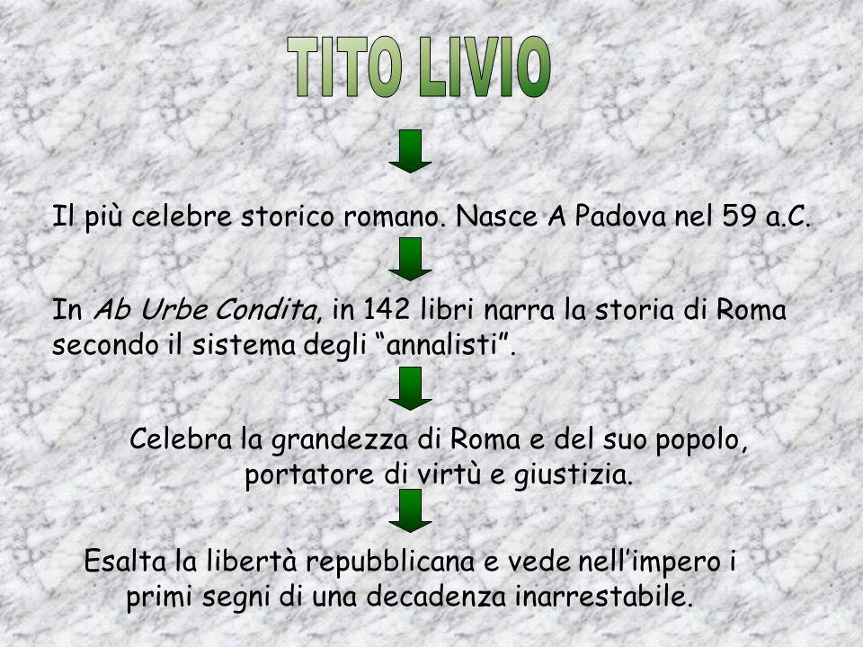 Il più celebre storico romano. Nasce A Padova nel 59 a.C.