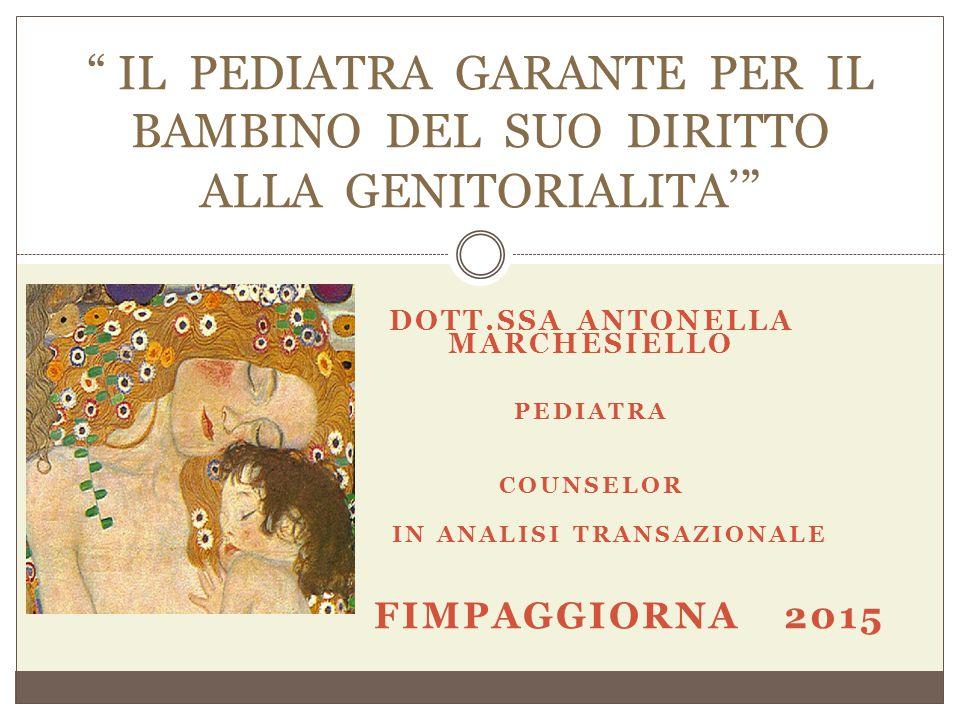 Dott.ssa Antonella Marchesiello in Analisi transazionale