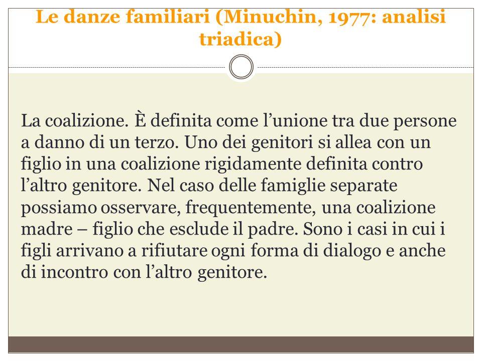 Le danze familiari (Minuchin, 1977: analisi triadica)