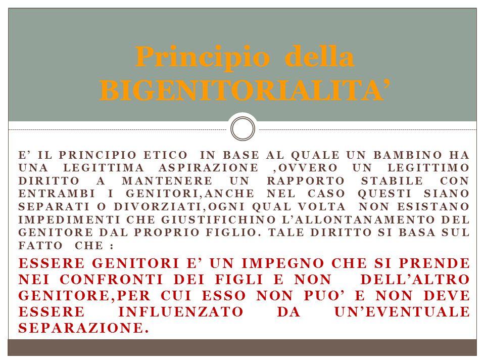 Principio della BIGENITORIALITA'