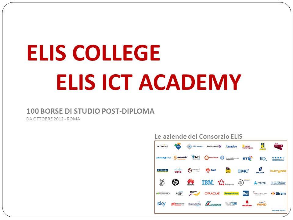 ELIS COLLEGE ELIS ICT ACADEMY 100 BORSE DI STUDIO POST-DIPLOMA