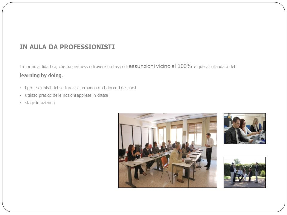 IN AULA DA PROFESSIONISTI