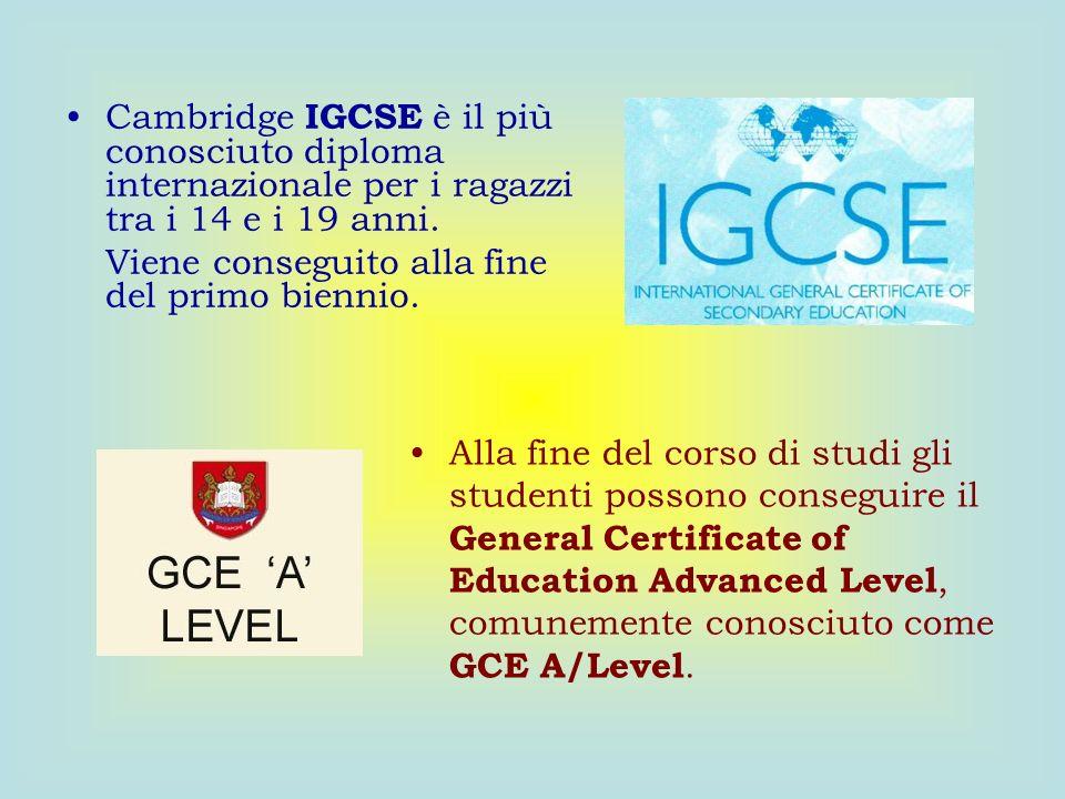 Cambridge IGCSE è il più conosciuto diploma internazionale per i ragazzi tra i 14 e i 19 anni.