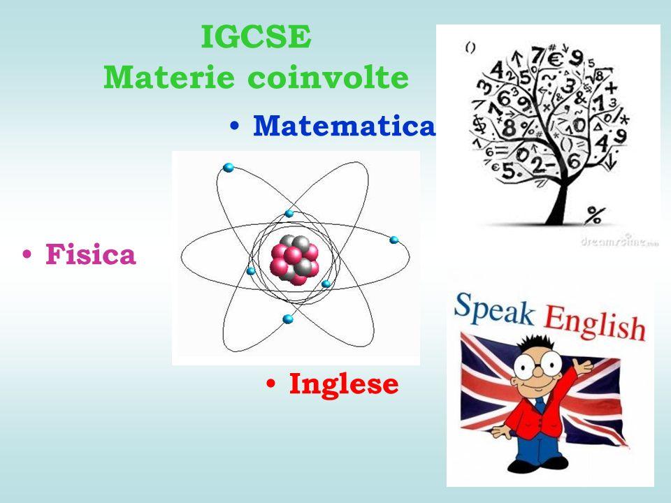 IGCSE Materie coinvolte