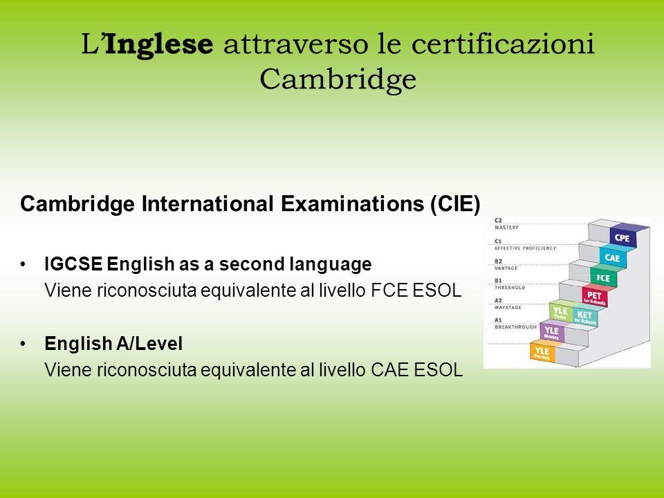 L'Inglese attraverso le certificazioni Cambridge