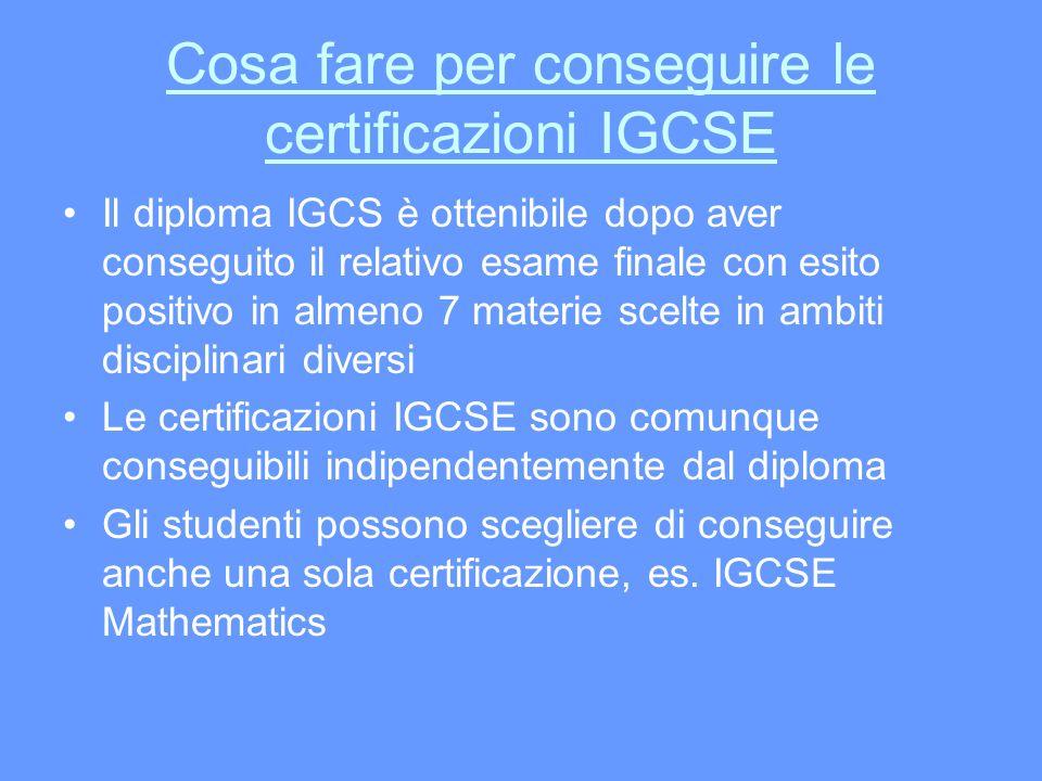 Cosa fare per conseguire le certificazioni IGCSE