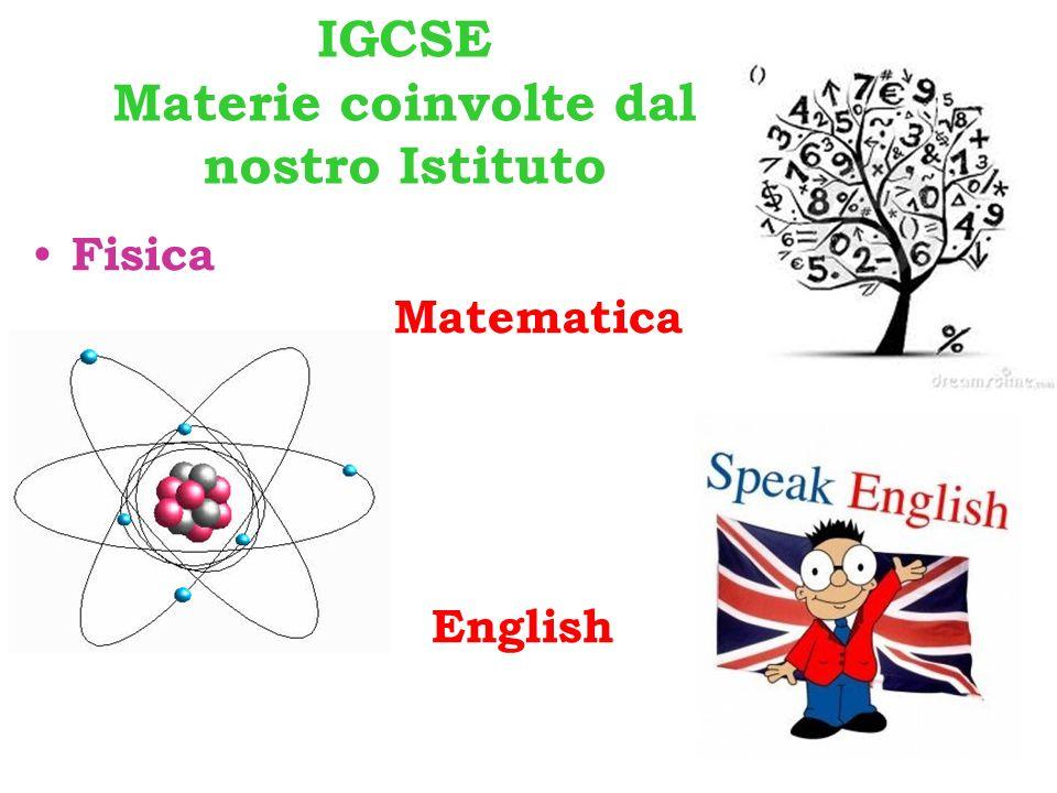 IGCSE Materie coinvolte dal nostro Istituto