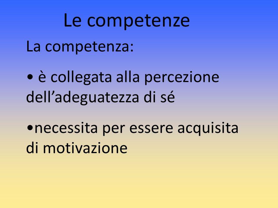 Le competenze La competenza: