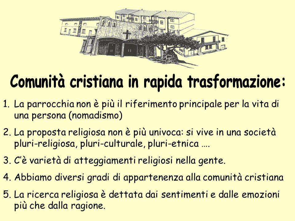 Comunità cristiana in rapida trasformazione: