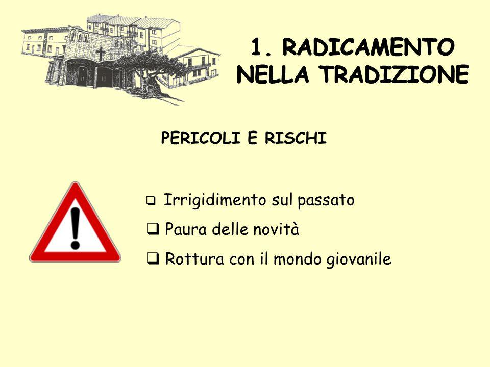 1. RADICAMENTO NELLA TRADIZIONE